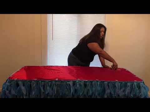 falda para mesa o una table skirt