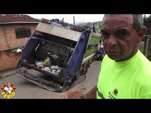 Motorista do caminhão fala sobre o susto provocado pela Sabesp de São Lourenço da Serra a Cupim do Asfalto de São Lourenço da Serra