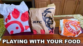 Popeye's vs KFC vs Chick-fil-a  - PLAYING WITH YOUR FOOD