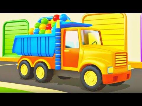 Helfer Autos auf Deutsch. Wir räumen die Straße frei. Zeichentrickfilme für Kinder.