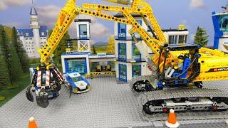 Lego Police Cars & Lego Crane,  Trucks, Cars & Excavator LEGO Toy Vehicles for Kids