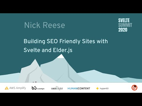Image thumbnail for talk Building SEO Friendly Sites with Svelte and Elder.js