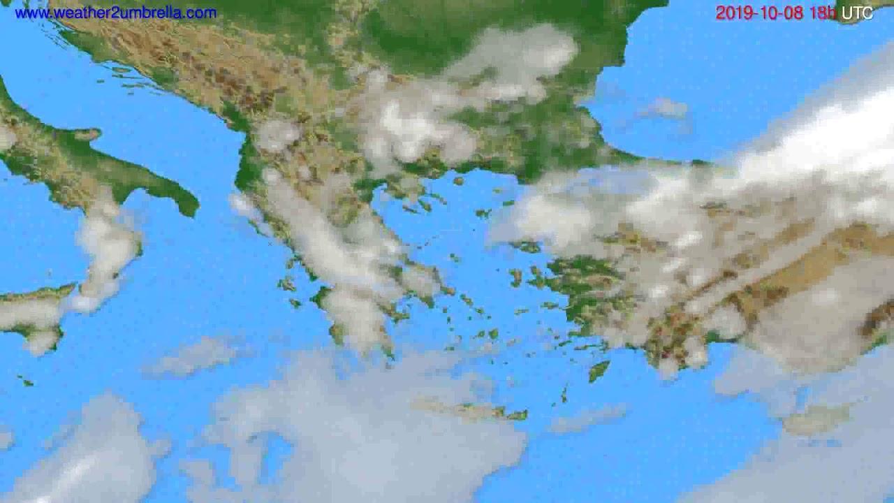 Cloud forecast Greece // modelrun: 00h UTC 2019-10-06