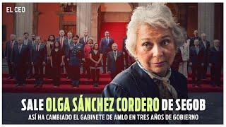 Sale Olga Sánchez Cordero de SEGOB, así ha cambiado el gabinete de AMLO en tres años de gobierno