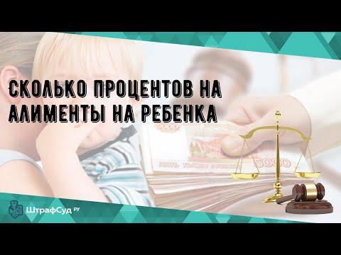 Сколько процентов на алименты на ребенка