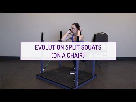 Evolution Split Squats (on a Chair)