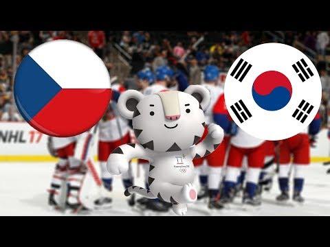NHL 18   ZOH 2018   ČESKÁ REPUBLIKA - JIŽNÍ KOREA   CZ/SK