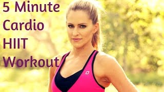 5 Minute Cardio HIIT Workout--High Intensity Intervals to Burn Calories and Blast Fat by BodyFit By Amy