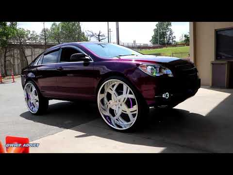 WhipAddict: Kandy Purple 2010 Chevrolet Malibu on DUB 30s with Crazy Sound System