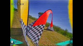 """Drone Racing Practise, using throttle cap on a really tight track. Quad used. 5""""vmx2 35amp 4s"""