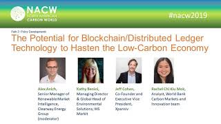 NACW 2019 - P2 - Potential for Blockchain Distributed Ledger Technology to Hasten Low Carbon Economy