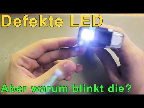 Elektronik: komische LED | Aber warum blinkt die denn?