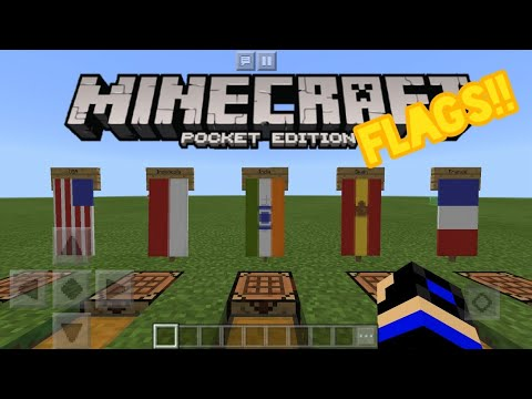 5 Cool Country Flag Banners!! (USA, Indonesia, India, Spain, France) - Minecraft: Pocket Edition