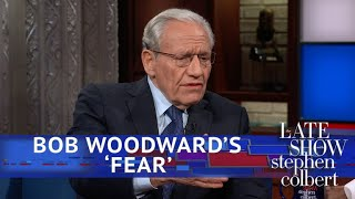 Colbert To Bob Woodward: What Do You Fear Most?