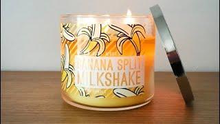 Banana Split Milkshake - Bath & Body Works / White Barn Candle Review