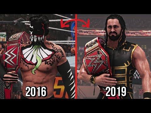 Every WWE Universal Champions 2016 - 2019 ( WWE 2K19 )