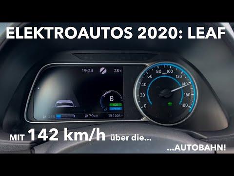 Im Nissan Leaf mit 142 km/h über die Autobahn: Wie hoch ist der Verbrauch? Wie weit schafft man es?