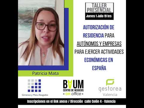 Autorización de Residencia para Autónomos o Empresas, para ejercer Actividades Económicas en España[;;;][;;;]