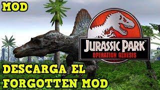 COMO DESCARGAR E INSTALAR EL FORGOTTEN MOD PARA JURASSIC PARK OPERATION GENESIS PARA PC