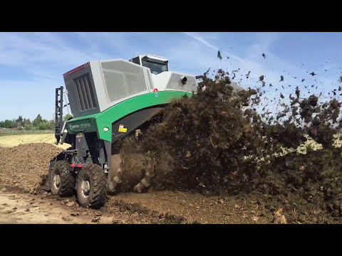 Komptech Topturn Compost Windrow Turner Processing BioSolids and Manure