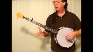 Bluegrass style on a 4 string banjo - Jay Smith