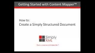 How To Create a Simply DITA Document[Demo] 01