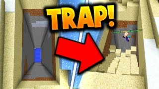 EPIC SAND FALLING TRAP!! (Minecraft Ice Factions #33)