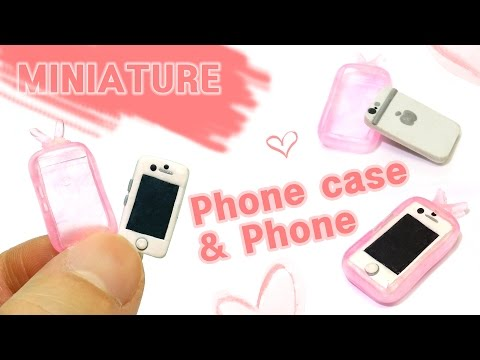 Download [DIY Miniature ]미니어쳐 핸드폰 & 폰케이스 세트 만들기  - how to make Phone & Phone case set HD Video