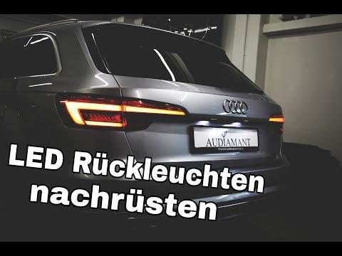 Audi A4 B9 8W LED Rückleuchten mit dynamischen Blinker nachrüsten retrofit