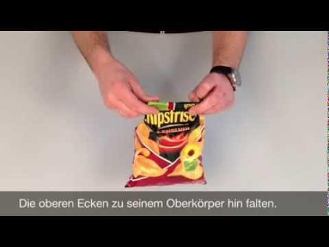Lifehack: Chipstüte wieder verschließen ohne das was rausfallen kann