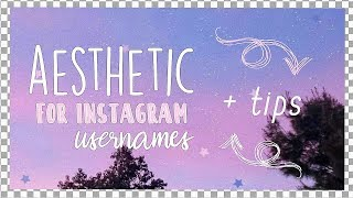 username ideas for instagram aesthetic - TH-Clip