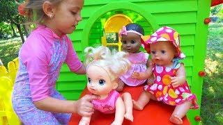 Капризные малыши КУКЛЫ Рутина маленького блогера Pretend play Настя как мама для Cry Baby Dolls