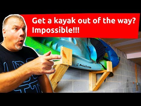 How to Build a Kayak Rack for Your Garage - Storing a Kayak in your Garage - DIY Kayak Rack