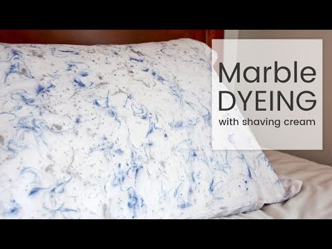 How to Dye Fabric: Marble Dyeing with Shaving Cream