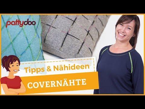 Tipps und Anleitungen für Covernähte, z.B. Sweatshirt nähen und Kissen mit Ziernähten