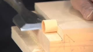Amazing Dovetail Woodworking Joints - Japanese Blind Dovetails