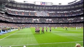 Celebración empate del Athletic a 1 en el Bernabéu