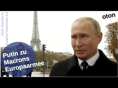 Putin über Macrons Europaarmee auf deutsch [Video]