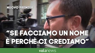 "Bonafede: ""Nome Conte confermato, noi seri"""