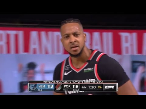 CJ McCollum Hits 3 HUGE Clutch Shots To Send Portland to the Playoffs