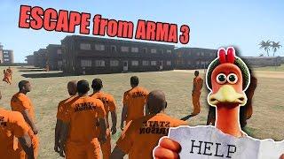 ESCAPE from ARMA 3 - побег из курятника!  Догони меня!