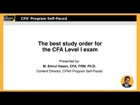CFA® Review: Best Study Order for the CFA Level I Exam | The ...