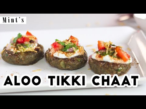 Aloo Palak Tikki Chaat Recipe – Indian Breakfast Recipes – Recipes In Hindi – Kids Snacks – Ep-176