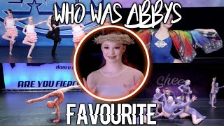 S8 dancers ranked based on how much Abby liked them!
