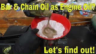 Chainsaw Bar & Chain Oil in the Crankcase? Let