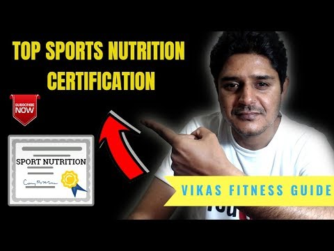 Top sports nutrition certificate provider in India and internationally ...