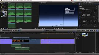Final Cut Pro X Tutorial Pt. 25 - Time Remapping + Optical Flow + Adjusting Title Entrances