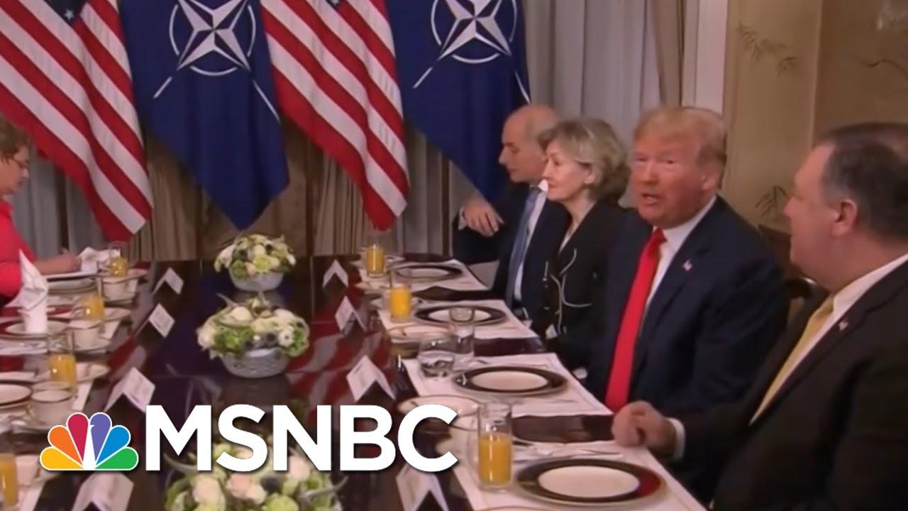 President Donald Trump Practices 'Diplomatic Malpractice' At NATO Breakfast | Morning Joe | MSNBC thumbnail