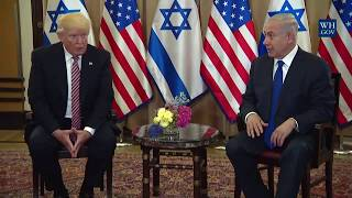President Donald Trump Meets with Israeli Prime Minister Benjamin Netanyahu