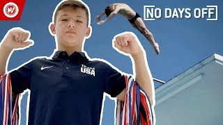 14-Year-Old Does INSANE Diving Tricks | No Days Off